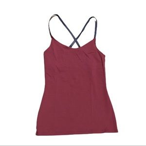 Outdoor Voices Strappy Cami Tank built in bra S